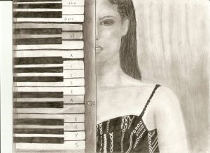 The Diary of Alicia Keys Album Cover Drawing