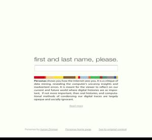 MIT Personas Name Please