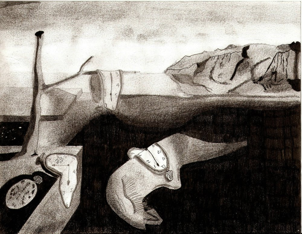 Past Drawings 5: Dali's The Persistence of Memory