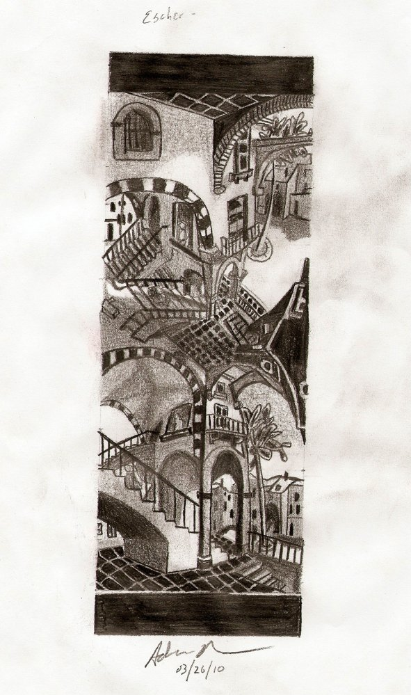 Past Drawings 6: M.C. Escher's Up and Down