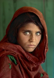 Orginal of Steve McCurry's 'Afghan Girl' for National Geographic cover