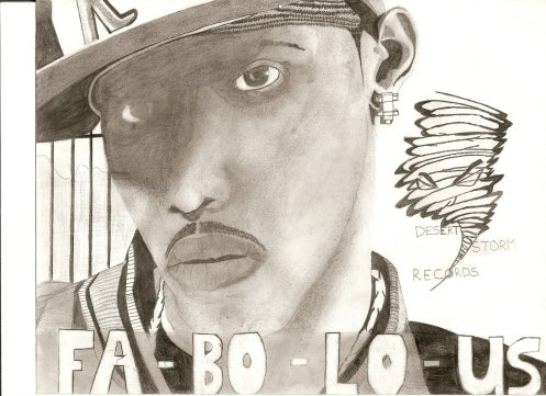 Fabolous drawing from 'Street Dreams' album insert